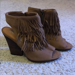 Fringe booties from Cato